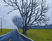 Roads Paintings - Sentinel by Laurie Breton