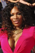 Gold Necklace Photo Framed Prints - Serena Williams At Arrivals For The Framed Print by Everett