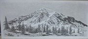Mountain Scene Drawings Prints - Serenity Print by Dino Baiza