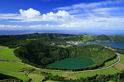 Crater Lake View Framed Prints - Sete Cidades crater Framed Print by Gaspar Avila