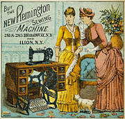 1880s Metal Prints - SEWING MACHINE AD, c1880 Metal Print by Granger