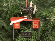 Treadle Prints - Sewing Machine Ornament Print by Sally Weigand