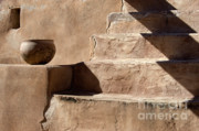 Stone Steps Posters - Shadows of Tumacacori Poster by Sandra Bronstein