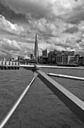 Shard Framed Prints - Shard from Millennium Bridge Framed Print by Gary Eason