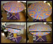 Oil Mixed Media - Sharpie Star Table by Mandy Shupp