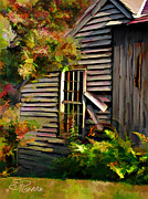 Barn Digital Art - Shed by Suni Roveto