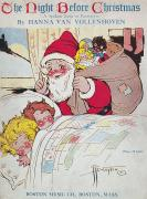 Santa Claus Prints - Sheet Music Cover, 1911 Print by Granger