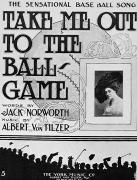 Ballgame Posters - Sheet Music: Take Me Out Poster by Granger