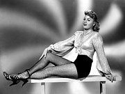Bare Midriff Prints - Shelley Winters, Portrait Circa 1940s Print by Everett