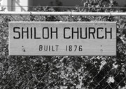 Solano County Framed Prints - Shiloh Church Sign Birds Landing CA Framed Print by Troy Montemayor
