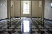 Grade School Prints - Shiny Checkered Floor of a School Print by Will & Deni McIntyre