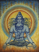 Snake Paintings - Shiva by Vrindavan Das