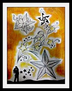 Live Music Drawings Posters - Shooting For The Stars Poster by Michael Hugue