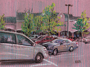 Parking Drawings - Shopping Day by Donald Maier