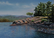 Pastel Paintings - Shore Tranquility by Kathy Dolan