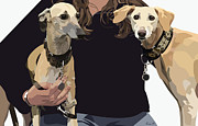 Dog Portraits Digital Art - Sighthounds II by Kris Hackleman