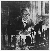 Statue Portrait Prints - Sigmund Freud, Austrian Psychologist Print by Humanities & Social Sciences Librarynew York Public Library