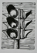 Lino Drawings Metal Prints - Signal Metal Print by William Cauthern