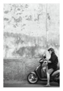 Postcards Prints - Signora black and white Print by Marco Hietberg