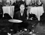 Waiter Photos - Silent Film: Restaurant by Granger