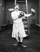 Moustache Prints - Silent Film Still: Boxing Print by Granger