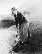Sportswoman Photo Framed Prints - Silent Film Still: Golf Framed Print by Granger