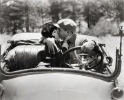 Kissing Photos - Silent Film Still by Granger
