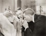Film Maker Prints - Silent Film Still: Smoking Print by Granger