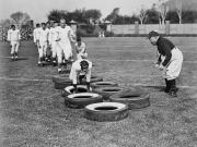 Football Coach Photos - Silent Film Still: Sports by Granger