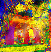 Palm Trees Mixed Media Posters - Simi Arches Poster by Chuck Staley