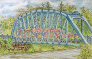 Flowers Pastels - Simsbury Flower Bridge by Collette Hurst