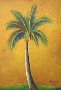 Gabriela Valencia Acrylic Prints - Single Palm Tree Acrylic Print by Gabriela Valencia