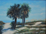 Sand Dunes Paintings - Singleton Beach by Stanton Allaben