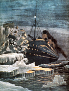 Collision Prints - Sinking Of The Titanic Print by Granger