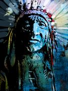 Native American Painting Metal Prints - Sioux Indian Metal Print by Paul Sachtleben