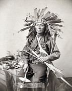 Oglala Framed Prints - Sioux Leader, 1891 Framed Print by Granger