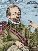 Knighted Metal Prints - Sir Francis Drake, English Explorer Metal Print by Photo Researchers, Inc.