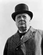 Statesman Metal Prints - Sir Winston Churchill Metal Print by War Is Hell Store