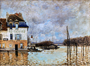 Flood Prints - Sisley: Flood, 1876 Print by Granger