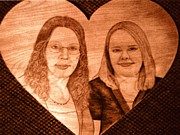 Sisters Pyrography - Sisters by Mark Padgett