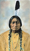 Barry Photos - Sitting Bull (1834-1890) by Granger