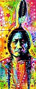 Indian Mixed Media Prints - Sitting Bull Print by Dean Russo