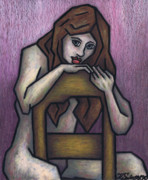 Portraits Originals - Sitting Nude by Kamil Swiatek