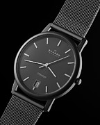 Skagen Prints - Skagen Titanium Watch Print by Noah Katz