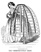 Crinoline Framed Prints - Skirt Factory, 1859 Framed Print by Granger