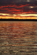 Down East Maine Prints - Sky Fire Print by Robert Anschutz