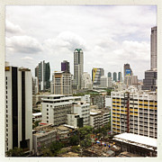 Transfer Print Prints - Skyline Of Bangkok Print by Ixefra