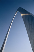 Historic Site Posters - Skyward View Of The Gateway Arch Poster by Paul Damien