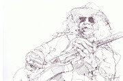 Rock N Roll Drawings Originals - Slash by Bobby LeVangie