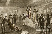 Art Buyers Framed Prints - Slave Auction, 1861 Framed Print by Photo Researchers